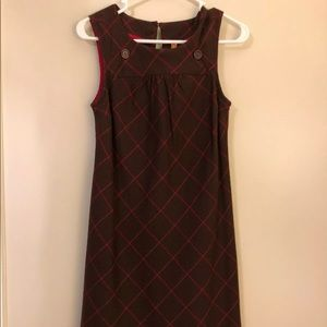 Anthropologie Dress 0 Maeve Brown Red Silk Shift
